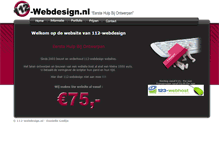 Tablet Preview of 112-webdesign.nl